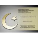 Croissant et étoile musulman sur fond d'or
