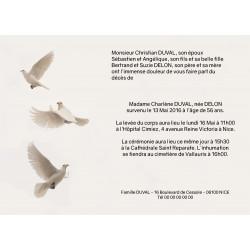 Envol de colombes