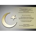 Croissant et étoile musulman sur fond or