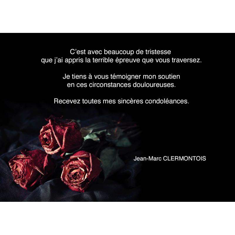 Cartes de condol ances imprim es en quadrichromie format for Dans nos coeurs 35